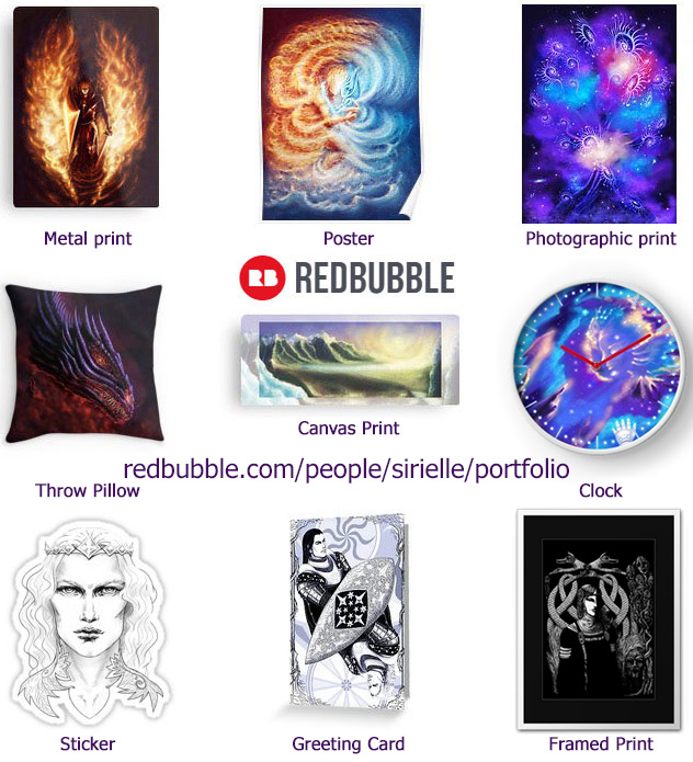 Redbubble print examples